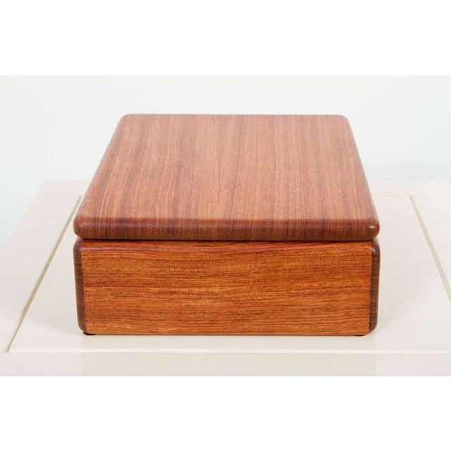 Rectangular Teak Jewelry Box For Sale - Image 9 of 9