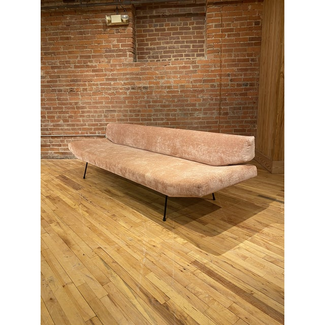 Mid-Century Modern 1950s Adrian Pearsall Iron Frame Sofa For Sale - Image 3 of 6