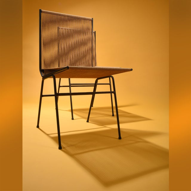 Boho Chic Allan Gould String Side Chairs - a Matched Pair, Circa 1952 For Sale - Image 3 of 7