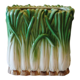 1984 Vintage Fitz and Floyd Onion Square Vase For Sale