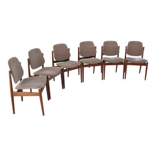 Arne Vodder Danish Teak Model 203 Dining Chairs- Set of 6 For Sale