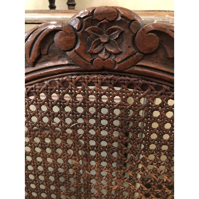 1950s French Caned Chairs - a Pair For Sale - Image 5 of 11