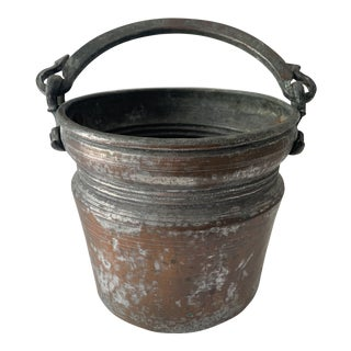 19th Century Hand Forged Hammered Copper Cauldron For Sale