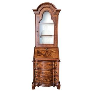 Modern Neo Classic Rococo Curio Display Case & Secretary Desk For Sale