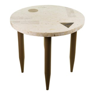 Maitland - Smith Modern Geometric Round Side Table