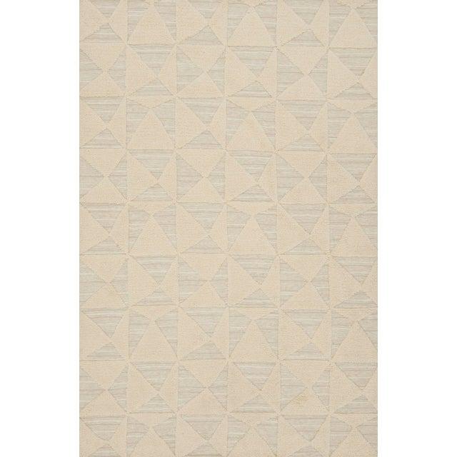 2010s Schumacher Patterson Flynn Martin Gerrits Handwoven Wool Silk Geometric Rug For Sale - Image 5 of 5