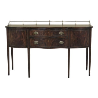 1970s Federal Henkel Harris Mahogany Sideboard With Gallery For Sale