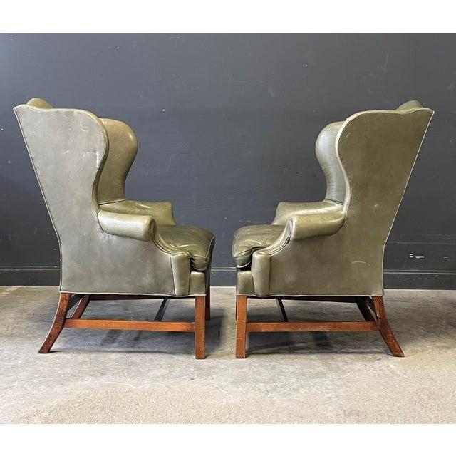 Ralph Lauren Ralph Lauren Georgian Style Wing Back Chairs For Sale - Image 4 of 6