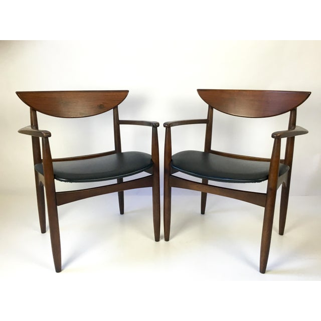 "Classic pair of Mid-Century modernist armchairs designed by Warren Church for the ""Perception Line"" manufactured by Lane..."