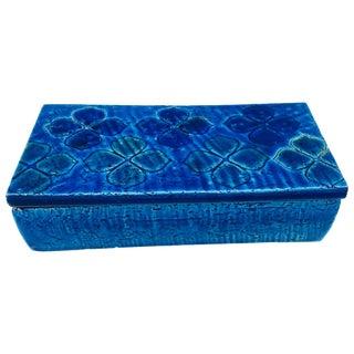 1960s Aldo Londi Bitossi 'Blue Rimini' Clover Box, #10/20 For Sale
