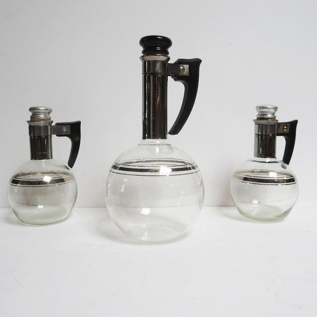 Art Deco Wine or Coffee Decanters Trio For Sale - Image 9 of 9