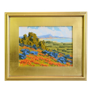 M. Graison, Santa Barbara Plein Air Coast Oil Painting