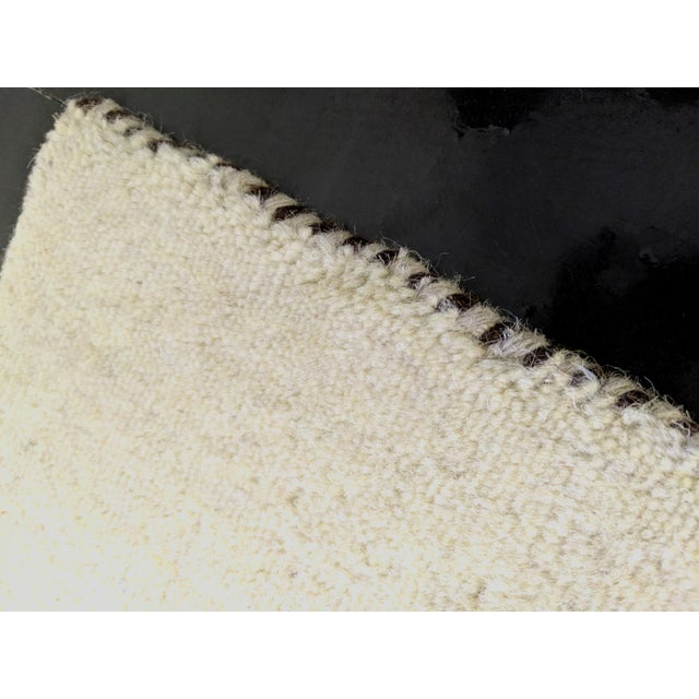Contemporary Contemporary Beige Woolen Gabbeh Runner Rug - 2′7″ × 9′10″ For Sale - Image 3 of 4