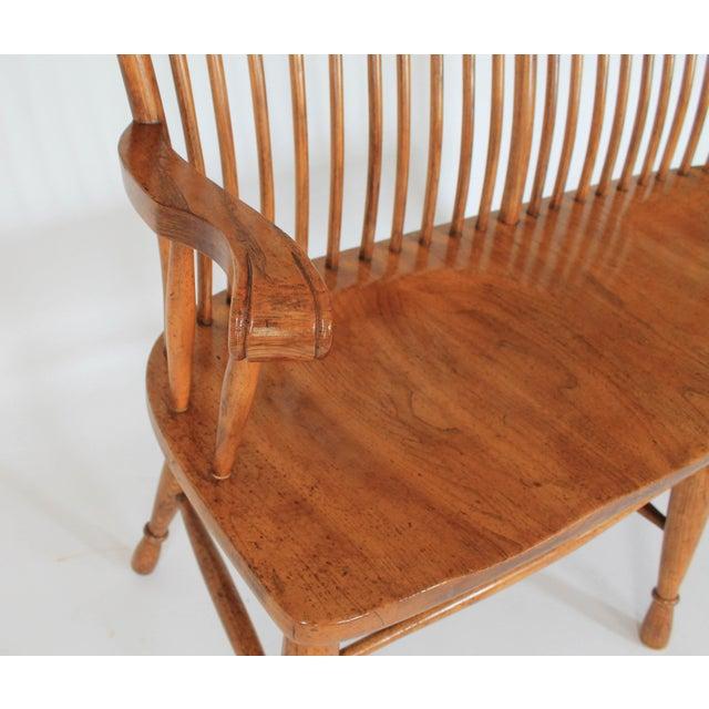 High Back Solid Oak Bench - Image 9 of 11