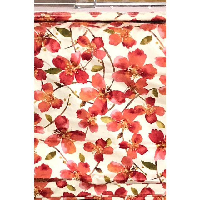 Floral Orange Pattern Roman Shade For Sale - Image 10 of 12