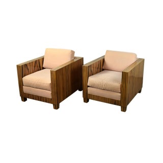 Interior Crafts Chicago Mid-Century Modern Style Rosewood Club Chairs - A Pair For Sale