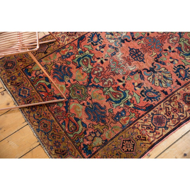 "Vintage Fine Malayer Square Rug - 3'5"" X 4'6"" For Sale In New York - Image 6 of 10"