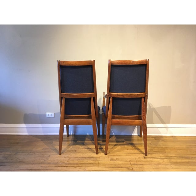 Mid-Century Modern Mid-Century Walnut Kroehler Dining Chairs - Set of 6 For Sale - Image 3 of 10