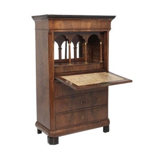 19th Century Empire Mahogany Secretaire For Sale