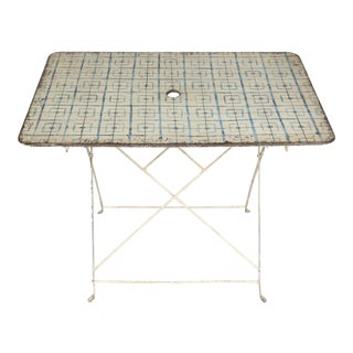 Painted Metal Table from France For Sale