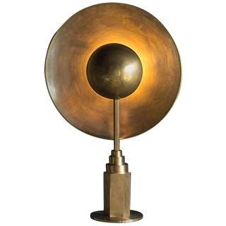 Metropolis Brass Table Lamp by Jan Garncarek For Sale