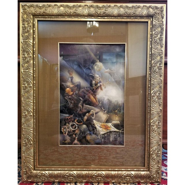 """Vladimir Ryklin """"Cirque De Soleil 2"""" Oil Painting on Canvas For Sale - Image 9 of 9"""