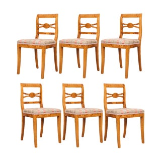 German 19th Century Biedermeier Dining Chairs - Set of 6 For Sale