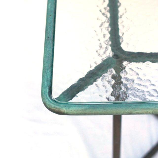 Walter Lamb Patinated Bronze Patio Table - Image 4 of 5