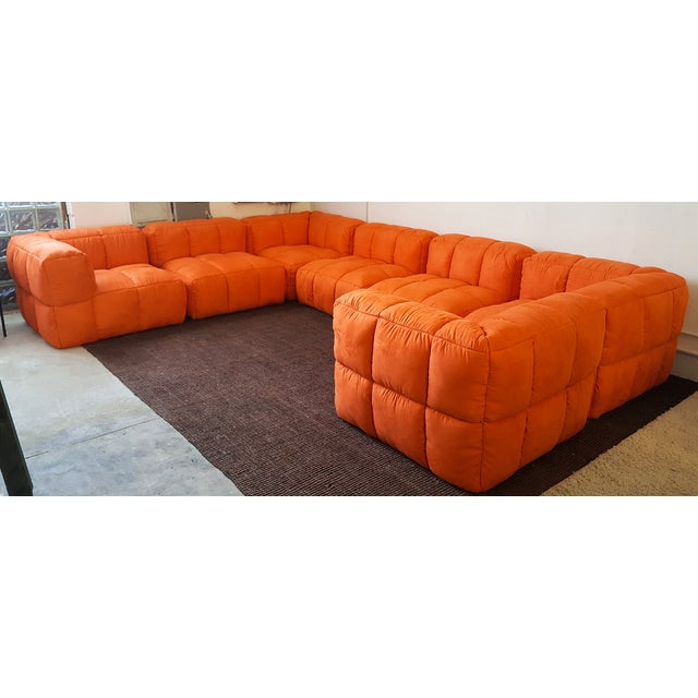 1970s Monumental Tufted Modular Sofa - Image 2 of 8