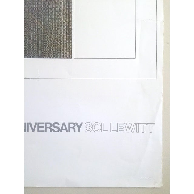 """Sol Lewitt Rare Vintage 1984 """"Paris Review 30th Anniversary"""" Original Silkscreen Print Limited Edition Poster For Sale - Image 10 of 13"""