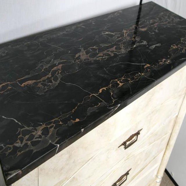 Faux Painted Marble Top Dressers- A Pair - Image 9 of 9