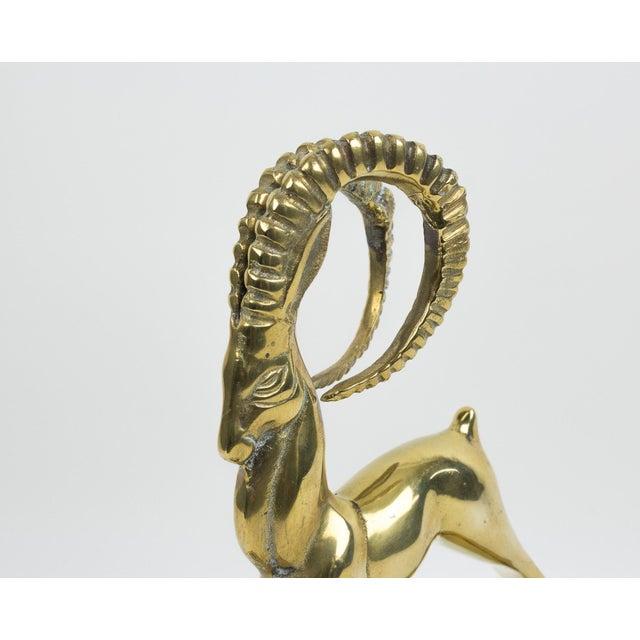 Metal 1970s Art Deco Brass Ram Figurine For Sale - Image 7 of 10
