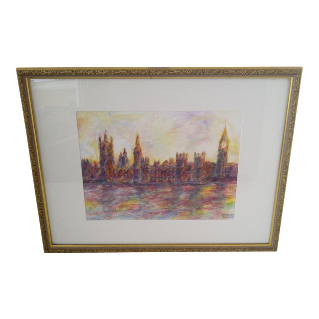 """London #2"" Original Painting by J.E. Miller For Sale"