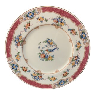 Antique Minton's Pink and Blue Bird Dinner Plates- Set of 8 For Sale