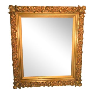 18th - 19th Century Louis XIV Ornate Gold Leaf Picture Frame For Sale