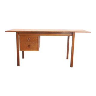 Danish Modern Arne Vodder Style Drop Leaf Desk