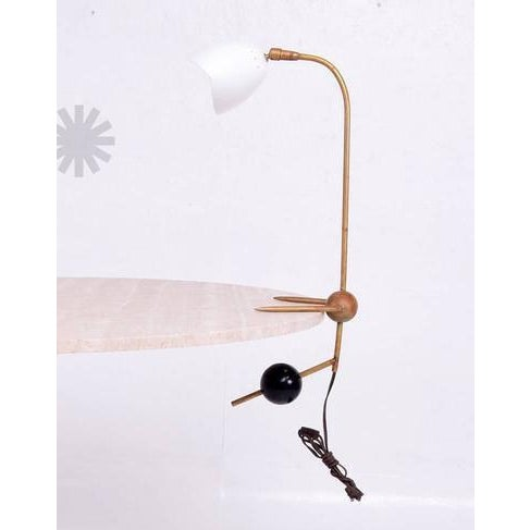 """For your consideration an Italian table or desk lamp with a counterbalance weight system. Unmarked, Italy. Measures: 29""""..."""
