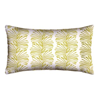 Pepper Emma in Chartreuse Lumbar Pillow For Sale