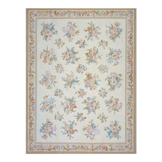 "Pasargad Aubusson Hand Woven Wool Rug - 11' 9"" X 17' 9"" For Sale"