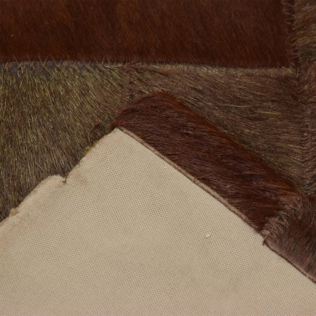 Brutalist Patchwork Cowhide Leather Rug- 8′3″ × 13′2″ For Sale In San Diego - Image 6 of 9