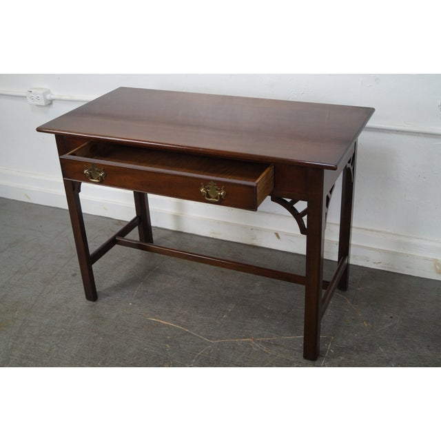 Kittinger Colonial Williamsburg Adaptation Mahogany Chippendale Writing Desk For Sale - Image 9 of 10
