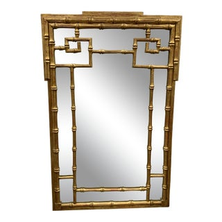 LaBarge Bamboo Greek Key Mirror For Sale