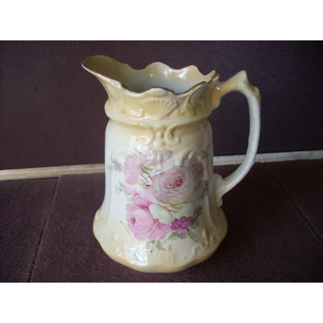 English Traditional Antique English James Kent Pitcher For Sale - Image 3 of 7