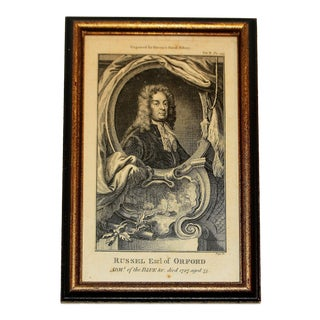 """18th Century Print """"Admiral Russel, the Naval History of Great Britain"""" by Frederic Hervey For Sale"""