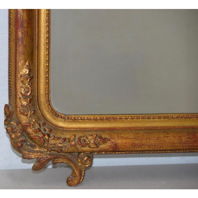 Early 19th Century Painted & Gilt Frame Mirror For Sale - Image 4 of 9