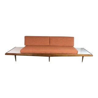 1960s Mid-Century Modern Adrian Pearsall Orange Fabric Sofa For Sale