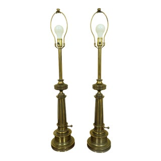 Stiffel Brass Vintage Table Lamps - a Pair For Sale