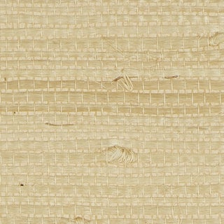 Sample - Schumacher Kiyoko Jute Wallpaper in Natural For Sale