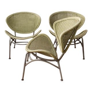 Set of Three Maurizio Tempestini for Salterini Clamshell Chairs