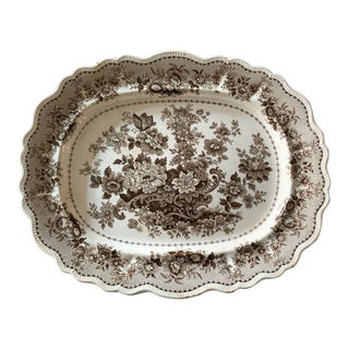 Antique English Porcelain Platter For Sale